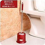 Walizh Leistungsstarke Stain Toilettenbürste mit Halter kreative Toilettenbürste Toilettenbürste Set rund RedY13-DJ3642104322