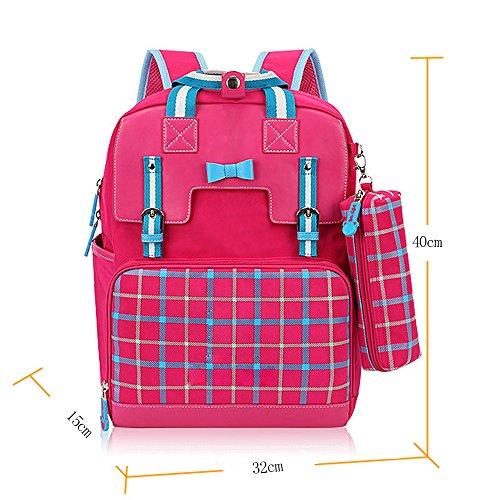 KINDOYO Jungen Mädchen Wasserdichte Rucksack für Kinder Unisex Schulrucksäcke Rucksack für Reisen, Wandern Rose-A