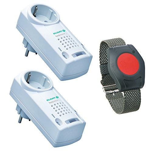 Pflegeruf-Set-Hausnotruf-Senioren-Hausalarm-Senioren-Sicherheitspaket-3-mit-Funk-Armbandsender-und-zwei-Steckdosen-Empfngern