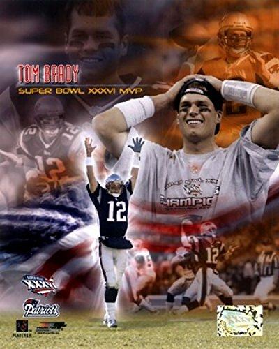 The Poster Corp Tom Brady SB XXXVI MVP Portrait Plus Photo Print (40,64 x 50,80 cm) -
