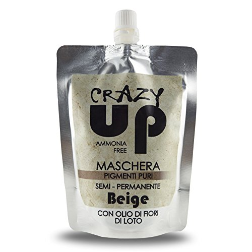 Crazy Up - Máscara tinte del color del pelo semi permanente (todos los colores) Biondo chiaro