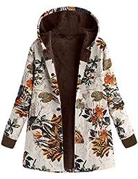 POLP Abrigos mujer Abrigo de Invierno de Mujer Invierno de algodón Suelto  cálidos Bolsillos Estampados más d67d5ee8b48e