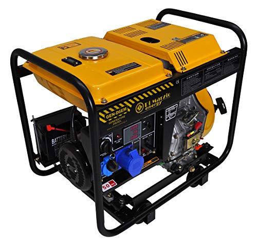 Generatore di corrente diesel 6 kw - gruppo elettrogeno avviamento elettrico/manuale