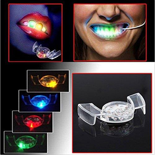 SwirlColor Satz von 2 LED-Blitz-Licht-Mundschutz-Partei-glühenden Zähnen Spielzeug leuchten Spielzeug