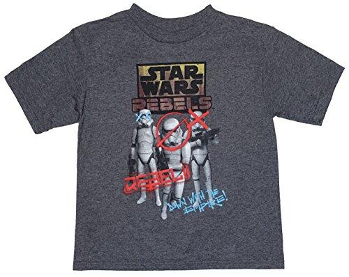 Disney top di t-shirt little boys (x-small (4)) di star wars rebels stormtroopers