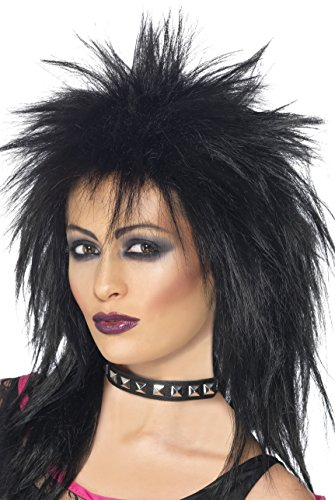 Smiffy's Rock Diva Wig. Ideal for 70s Punk, Siouxsie Sioux, Goth look
