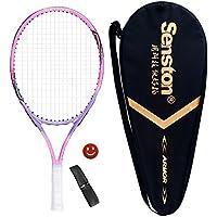 Senston Raqueta de tenis para niños,Para juegos en todas las áreas, Para niños de 6-8 años,Incluido Bolsa de Tenis / 1 grip / 1 Amortiguadores,Rosa