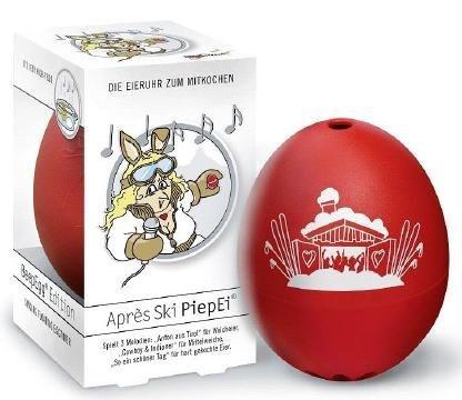 Brainstream Après Ski PiepEi, Eieruhr zum mitkochen, Spielt 3 Melodien für 3 Härtegrade, A003577