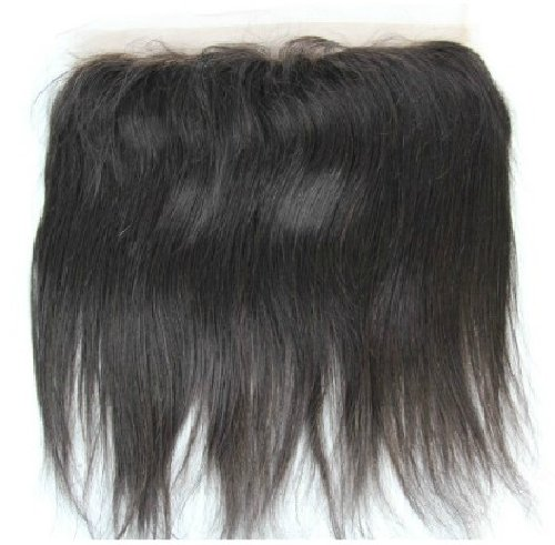 40,6 cm brésiliens vierges Fermeture dentelle cheveux soyeux droite/haut Fermeture (33 x 5,1 cm) couleur naturelle 120% Densité