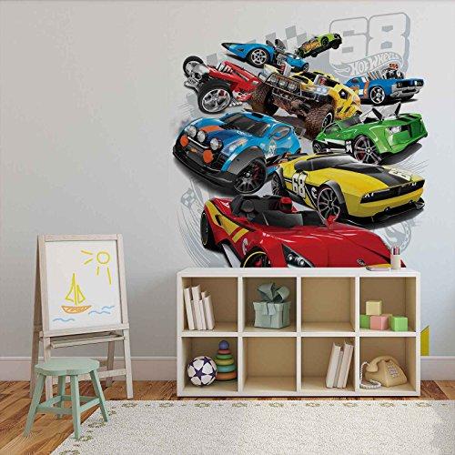 autos-hot-wheels-wallsticker-warehouse-fototapete-tapete-fotomural-mural-wandbild-3241wm-xxl-206cm-x