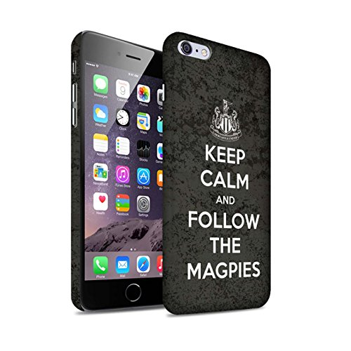 Offiziell Newcastle United FC Hülle / Matte Snap-On Case für Apple iPhone 6+/Plus 5.5 / Geordie Muster / NUFC Keep Calm Kollektion Folgen/Magpies