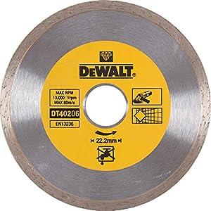 51ifT2wHQLL. SS300  - Dewalt DT40206-QZ DT40206-QZ-Disco de Diamante para Corte en seco con Borde Continuo 180mm x 22.2mm para cerámica, 0 W, 0 V