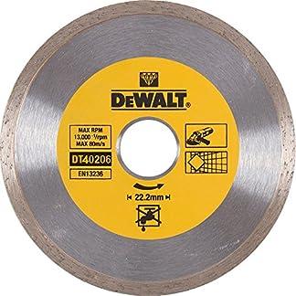 DEWALT DT40206-QZ – Disco de diamante para corte en seco con borde continuo 180mm x 22.2mm para cerámica
