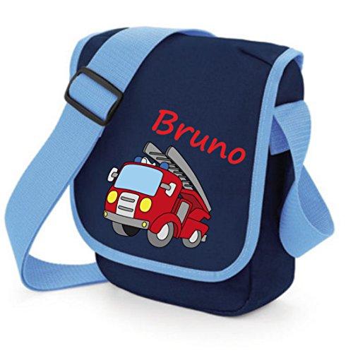 """TTS Kindergartentasche """"Feuerwehrauto"""" mit Wunschtext Pink"""