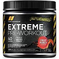 Pre Workout Supplement - Extreme Pre Workout Powder - 40 Servings (300 Grams) - UK Made Premium Preworkout Drink Enhanced Beta-Alanine, Taurine, L-Isoleucine, D-Aspartic Acid, L-Valine, Caffeine