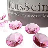 1000x Diamantkristalle 12mm rosa EinsSein® Dekoration Streudeko Konfetti Tischdeko Hochzeit Diamanten Diamant Glas groß Geburtstag