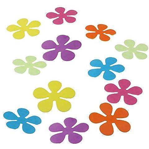 Premium Antirutsch-Blumen für Wanne oder Dusche Anti-Rutsch-Aufkleber Duschmatte Badewannen-Matte Saugmatten bunt