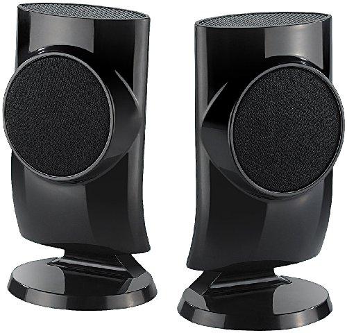 auvisio Laptop Lautsprecher: Designer-Aktiv-Lautsprecher mit USB-Stromversorgung, 12 Watt (PC Lautsprecher USB Stromversorgung)
