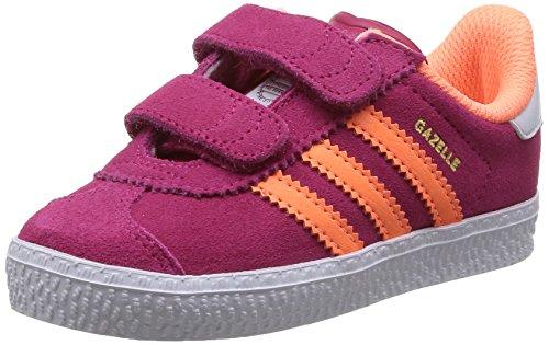 Adidas Gazelle 2 Cf I Scarpe Sportive, Unisex Bambino Bopink/Flaora/Ftwwht
