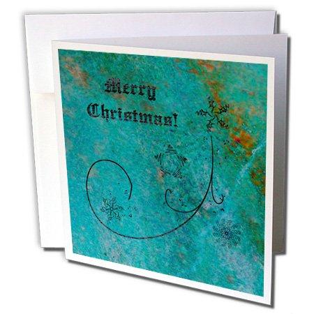 Merry Christmas, aqua, Coral, Schneeflocken und Sterne-Karten, 15,2x 15,2cm, Set 12(GC 195798_ 2)