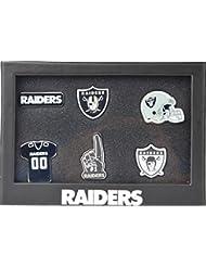 Oakland Raiders NFL 6Pinset dans boîte cadeau–Football Supporter Boutique
