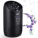 PARTU HEPA Purificador de aire con esponja de fragancia y botón de bloqueo, limpiador de aire para el hogar contra la alergia, polvo, polen, caspa de mascotas, moho, humo, 100% sin ozono