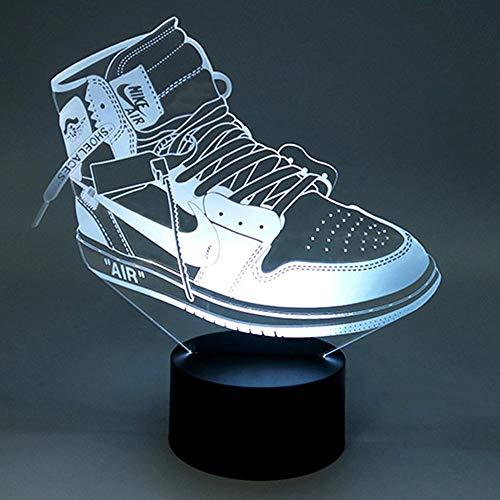 Kreative Bunte Usb Kind Nachtlichter 3D Led Sportschuhe Schlafzimmer Büro Wohnkultur Beleuchtung Schreibtisch Tischlampe Sport Fans Geschenk