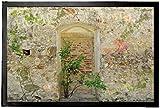 1art1 94386 Mauern - Romantische Garten-Mauer Fußmatte Türmatte 60 x 40 cm