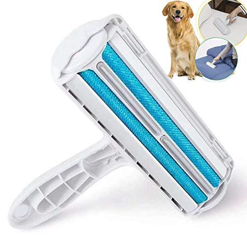 JYHY removedor de Pelusas y Pelusas para Mascotas con Base de autolimpieza, Cepillo de Doble Cara Que Elimina el Pelo de Perro y Gato de la Ropa, Muebles, Camas, alfombras, Azul, Large