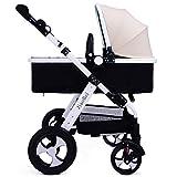 Buggys HWF Baby-Spaziergänger High Landscape Baby-Wagen kann leer sitzen leichte Fold Explosionsgeschützte Rad-Trolley Prams (Farbe : F)