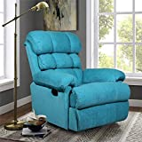 Alcanes Wood Hush Puppy Recliner, Single Seater, Manual Swivel Glider, Aqua