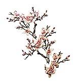 MagiDeal Satz Von 3 Spitze Stickerei Blume Nähen auf Patch Abzeichen Tasche Hut Jeans Kleid Applique Fertigkeit - Rosa, one size