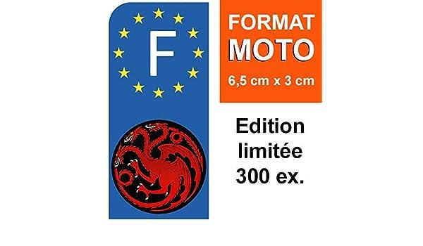 Dragon Targaryen THELITTLESTICKER 1 Sticker pour Plaque dimmatriculation Moto Stickers Garanti 5 Ans GOT Nos Stickers sont recouvert dun pelliculage de Protection sp/écifique