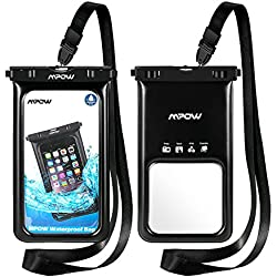 Mpow Funda Móvil Impermeable Flotante, Bolsa de Teléfono Móvil Seca para iPhone XS/XS MAX/X/8/8 Plus/7/7 Plus/6/6s Plus/SE/5S/5C,Google Pixel, LG G6, Huawei P9/P20/P10, BQ Aquaris,Sony, Motorola, Galaxy S9/S8/S7,Monedas,Pasaporte y más(2 Paquetes)