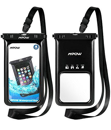 Mpow Funda Móvil Impermeable Flotante, Bolsa de Teléfono Móvil Seca para iPhone X/8/8 Plus/7/7 Plus/6/6s Plus/SE/5S/5C,Google Pixel, LG G6, Huawei P9/P20/P10, BQ Aquaris,Sony, Motorola, Galaxy S9/S8/S7,Monedas,Pasaporte y más(2 Paquetes)