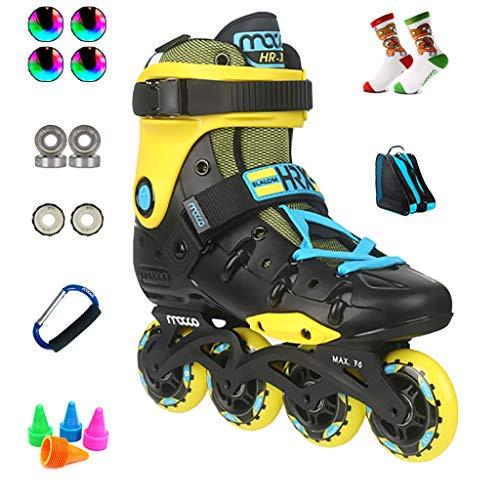 Inline Skates Sport-Inlineskates, Professionelle Eisschnelllaufschuhe Für Anfänger, Rollschuhe Für Studenten, 36-44 Yards Optional (Color : B, Size : EU 38/US 6/UK 5/JP 24cm)