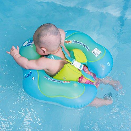 AQUA WATER BABY LEARN TO SWIM FLOATING PLAYRAFT PERFORATED SWIMMING POOL RAFT