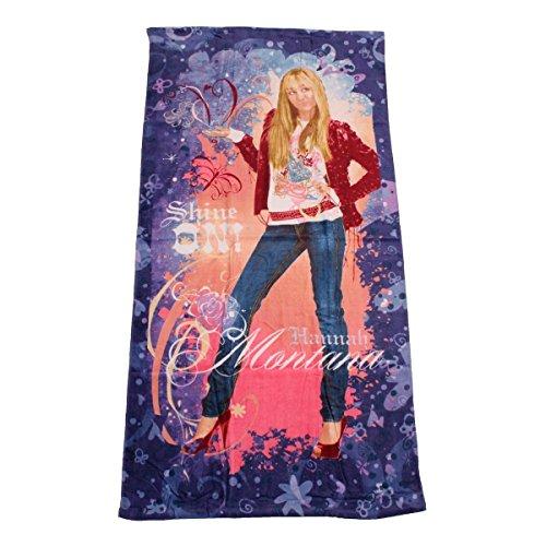 Hannah Montana Strandtuch (Disney Großes Hannah Montana Shine ON! Strandtuch 75 x 150 cm Badetuch Velourstuch)