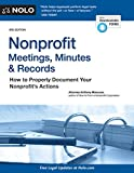 Nonprofit Meetings, Minutes & Records: How to Properly Document Your Nonprofit's Actions (English Edition)
