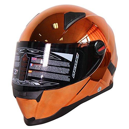 Nenki NK-861Vollvisier-Motorradhelm, ECE geprüft, mit Sonnenblende - 2