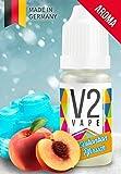 V2 Vape Eisbonbon-Pfirsich AROMA/KONZENTRAT hochdosiertes Premium Lebensmittel-Aroma zum selber mischen von E-Liquid/Liquid-Base für E-Zigarette und E-Shisha 10ml 0mg nikotinfrei