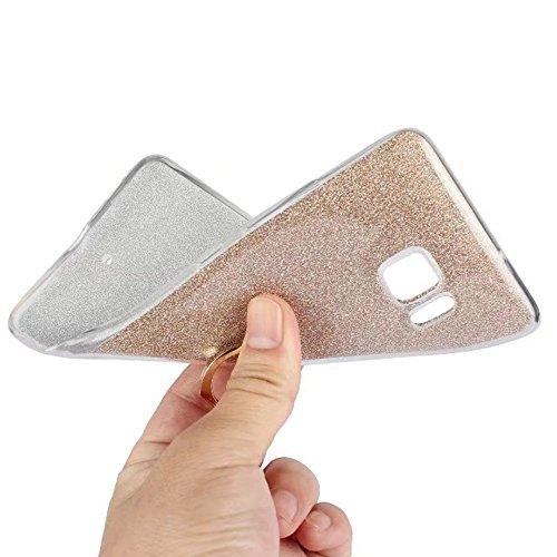 EKINHUI Case Cover Soft Flexible TPU Back Cover Case Shockproof Schutzhülle mit Bling Glitter Sparkles und Kickstand für HTC U Ultra ( Color : Blue ) Blue