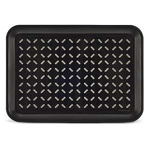 Freelance Polypropylene Anti Slip Tray, Small, Rectangle, Black