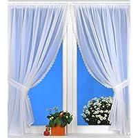 Kamaca - Juego de cortinas de cuatro piezas (2 cortinas 140x 120cm) y 2alzapaños (por B 5x 50cm) para la cocina y lo que quieras