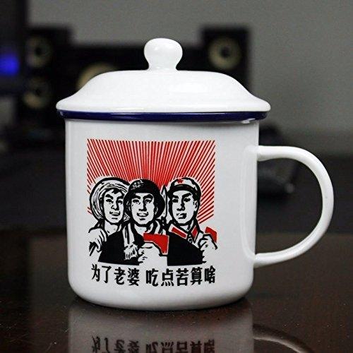 TIANLIANG04 Becher Kaffeetassen Nachahmung Emaille Tasse Mit Keramik Tasse Tasse Mit Deckel Home...