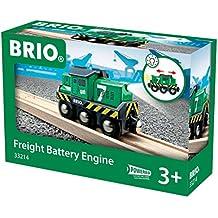 Brio - Locomotora de mercancías a pilas con luz (33214)