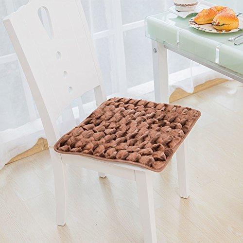 SKLFSKDFJDN Plüsch Familie Kissen sitzkissen 40 * 40cm büro Stuhl Kissen am besten für Office Home und Auto-E 45x45cm(18x18inch)