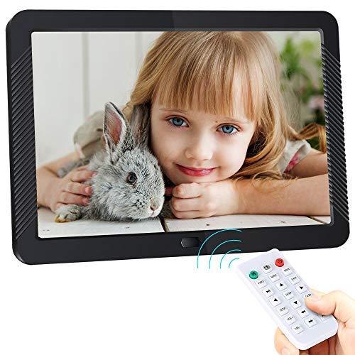 Digitaler Bilderrahmen, ACTITOP 8 Zoll Digitalrahmen mit IPS Anzeigebildschirm, Foto, Musik, Video Player Kalender Alarmunterstützung, USB und SD Karte, Fernbedienung
