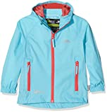 Trespass Qikpac Jacket, Aquatic, 11/12, Kompakt Zusammenrollbare Wasserdichte Jacke für Kinder / Unisex / Mädchen und Jungen, 11-12 Jahre, Blau