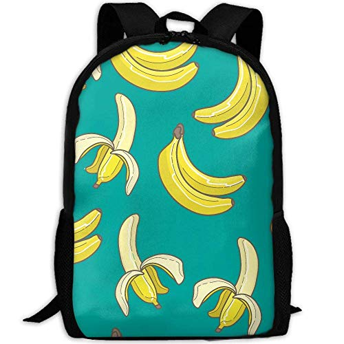 Banana Pattern Unisex Adult Unique Rucksack,School Leisure Sports Book Bags,Durable Oxford Outdoor College Laptop Computer Shoulder Bags,Lightweight Travel Tagesrucksäcke